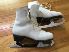 "SP-Teri Figure Ice Skates size 6-1/2 C with Wilson Coronation ACE 9.5"" Blade"