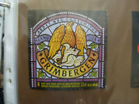 VINTAGE BELGIUM BEER LABEL. MAES BREWERY - GRIMBERGEN 33CL