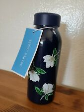 Draper James Magnolia Water Bottle Nassau Navy Multi Metal Insulated New