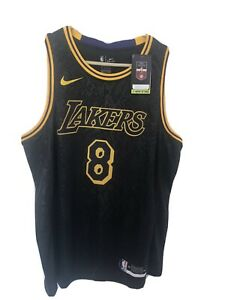 Kobe Bryant Black Mamba Los Angeles Lakers Jersey Size XL New With Tags 8/24
