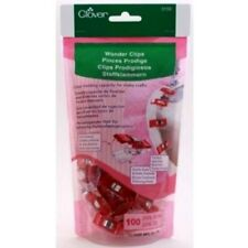 Clover Red Wonder Clips - 100 Pack For Sewing, Crafts, Quilting, Arts #3159