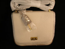 Fossil Beige Bone Pebbled Leather Memoir CB Cross Body Shoulder Bag Purse