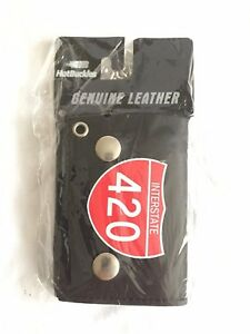 Red INTERSTATE 420 Black New Trifold Motorcycle Biker Wallet w/Chain- NEW-USA