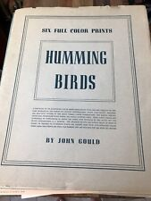John Gould Humming Birds Portfolio of 6 Prints With 4 Extra Prints