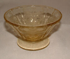 FEDERAL MADRID AMBER FOOTED SHERBERT GLASS Circa 1930's