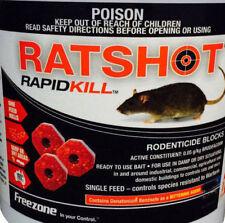 Ratshot RapidKill Rat Mouse Rodent Poison Bait Blocks Brodifacoum ONE Feed 250gm