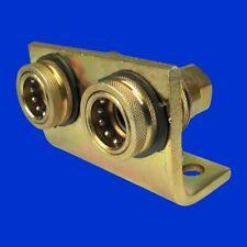 Zwei hydraulische Abreisskupplungen Hydraulikkupplung NW 10 Kompl auf Halter