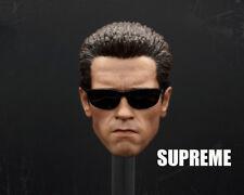 SUPREME 1/6 Scale Arnold Schwarzenegger T800 Terminator Head Sculpt W/ Glasses
