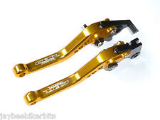HONDA CBR 125R 150R SHORT GOLD BRAKE & CLUTCH LEVERS SET RACE TRACK ROAD R14C5
