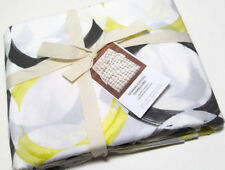 West Elm Multi Colors Gray Black Yellow Spinning Round Circles King Duvet Cover