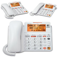 ATT CL4940 Corded Standard Phone with Answering System and Backlit Display White