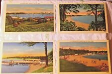 MASSACHUSETTS LOT OF 6 VTG POSTCARDS CAPE COD BEACHES WEST FALMOUTH ONSET UNUSED
