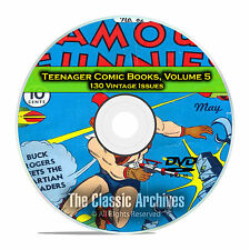 Teenager Comic Books, Vol 5, Famous Funnies, 130 Issues Golden Age DVD D58
