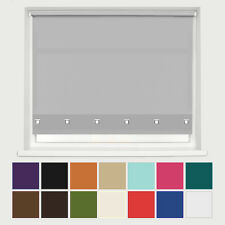 SQUARE EYELET EDGE ROLLER BLINDS - Up to 8ft width - TRIMABLE