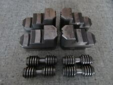 SET OF 4, 4-JAW CHUCK JAWS AND SCREWS