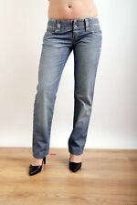 """GAS """"HARLAN"""" Lady JEANS DENIM STRAIGHT FIT Low waisted Faded jeans W27 UK10 FAB"""