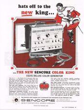 1967 Sencore Color King CG141 Deluxe Color Generator TV Service Vtg Print Ad