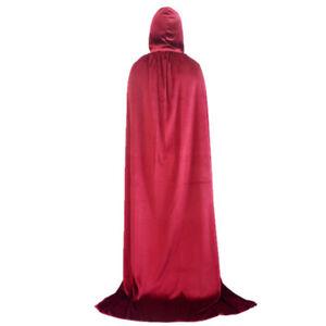 Women Halloween Medieval Gown Dress Renaissance Hoody Cloak Cape Party Cosplsy