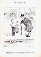 1905 Vintage Lot McCutcheon Pen & Ink July 4th Fourth Patriotic Cartoon Drawings