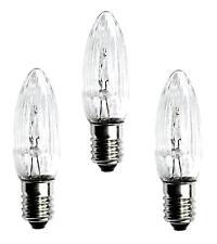 3 Stück Topkerze 8 V 3W E10 außen Spitzkerze Riffelkerze für 30er Lichterkette