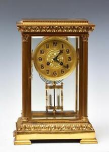 Exceptional 19th C. French Gilt Bronze Regulator Clock