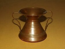 "Vintage 3 1/4"" High Copper 2 Handled Pitcher? Not Sure"
