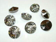 Genuine Swarovski Crystal Buttons 3015 Upholstery Curtain Headboard Cushion Etc