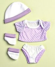 "4 Pc Purple Pajamas Doll Clothing For La Newborn Real Life 13"" Girl Baby Gift"