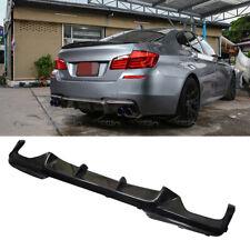 V Style Carbon Fiber Rear Bumper Diffuser Lip For BMW F10 5-Series 2012-2017