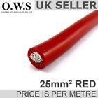 25mm ² PVC Hi-Flex Rame Batteria Avviamento/TERRA/saldatura CAVO (rosso) 170