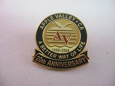 Lapel Hat Pin: Apple Valley California AV 20th Anniversary 1988-2008
