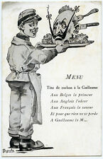 guillaume II .MENU.Tête de cochon à la GUILLAUME.CARICATURE.SATIRE.satirical.war