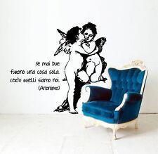 00623 Wall Stickers Adesivi Muro Angeli sticker 73x90 cm
