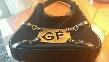 AUTHENTIC GF FERRE LEATHER & SUEDE HANDBAG W/ AWESOME HARDWARE
