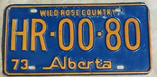 Vintage Alberta HR-00-80, 73 Plate, CANADA License Plate ~ Man Cave, Garage
