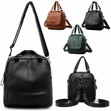 Women Leather Backpack Fashion Cross Body Rucksack School Shoulder Bag Handbag