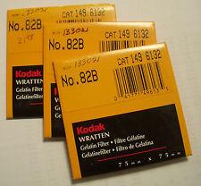Kodak wratten GELATINA Filtro NO 82b 7.6cm OR 75mm Cuadrado