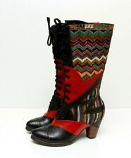 NWOB Spring Step L'ARTISTE Women's Malag Boots Black/Multi Sz 37 US 6.5-7