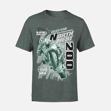 Oficial 2019 Norte West 200 Brezo Oscuro Camiseta Estampada - 19NW-637AT