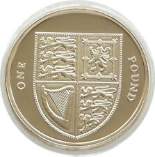 2008 First Year Royal Shield of Arms £1 One Pound Proof Coin Fourth Portrait