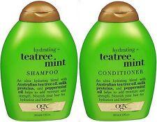 OGX Organix Shampoo & Conditioner Combo TEA TREE Mint 13oz ea PRIORITY SHIP!