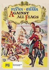 AGAINST ALL FLAGS - ERROL FLYNN -  NEW & SEALED  REGION 4 DVD FREE LOCAL POST