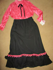 1900s VICTORIAN Edwardian Titanic Music Man pink top/black skirt costume 3X 26