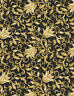 Timeless Treasures Metallic Floral Scroll gold 100% cotton fabric by the yard