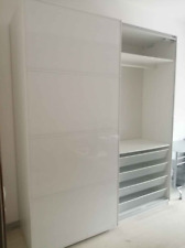 White wardrobe with sliding doors