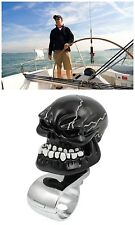 Skull Steering Wheel Aid Knob Spinner for Car Van Truck Motorcycle Yacht Black
