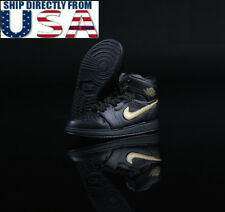 1/6 Men Sneakers Nike Air Style Shoes BLACK For Hot Toys Phicen Male Figure USA