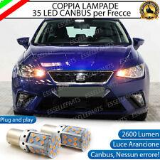 COPPIA LAMPADE PY21W BAU15S CANBUS 35 LED SEAT IBIZA V 5 FRECCE ANTERIORI