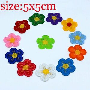 12X Flower Embroidery Patch Applique Iron On Patch design DIY Sew Iron On Badge