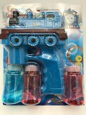 Bubble Gun Train Toy Light Up Flashing  Bubbles Blower